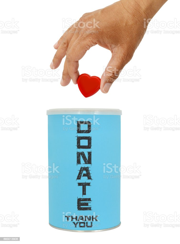 Donate with Love foto de stock libre de derechos