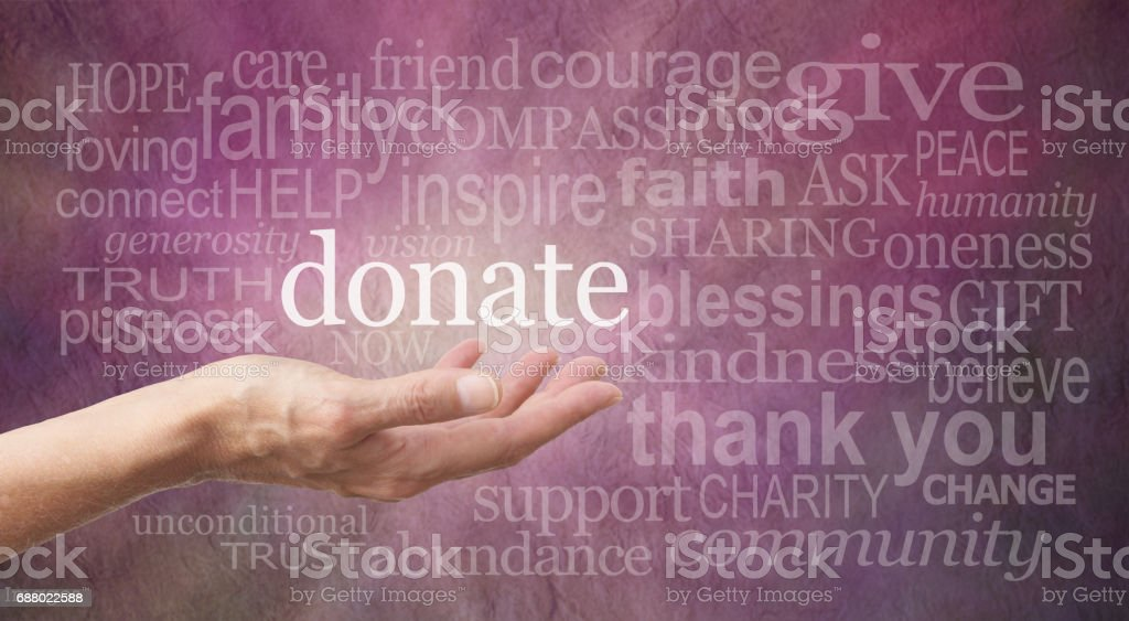 Donate Word Wall stock photo