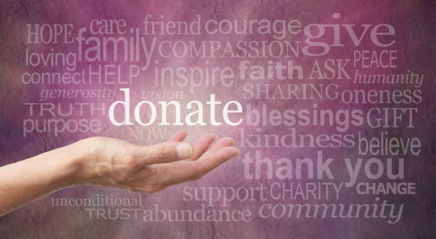Donate Word Wall stock photo