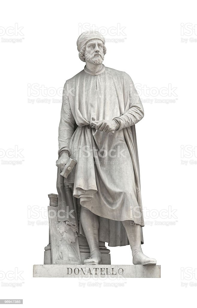 Donatello statue in Florence, Italy royalty-free stock photo