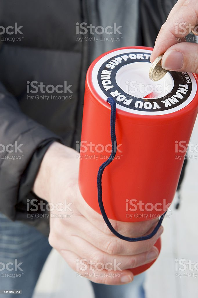 Donating Money To Charity stock photo