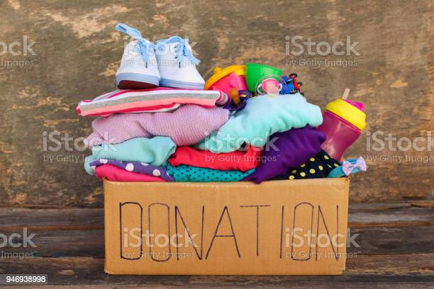 Donation box with childrens things and toys picture id946938998?b=1&k=6&m=946938998&s=612x612&h=cr322lmp8c78l6asxrqbckzffpv2rumth1o1ccdwduy=