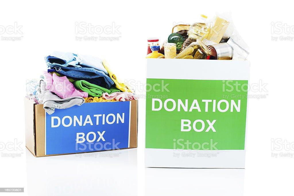 Spendenboxen. – Foto