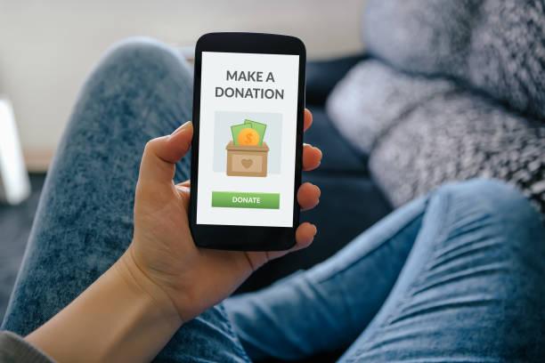 donation concept - benefits imagens e fotografias de stock