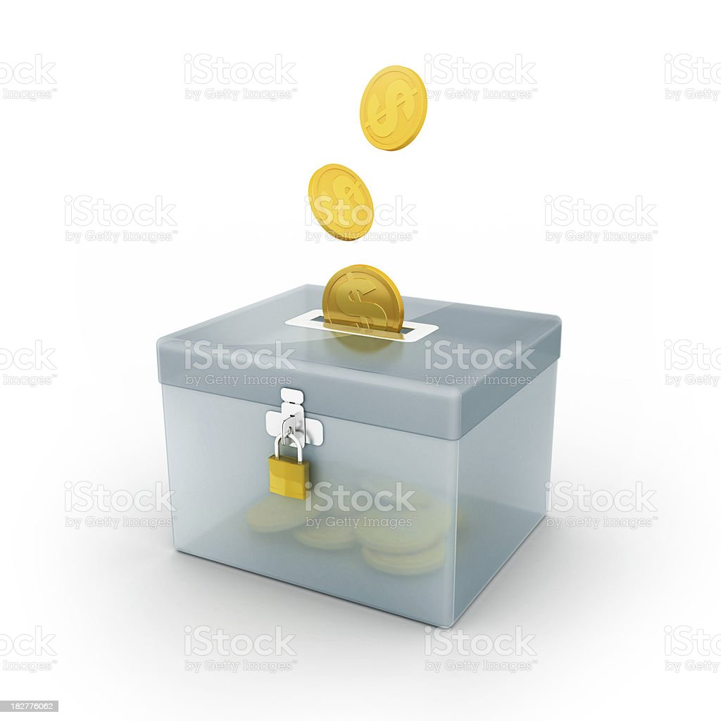 donation or saving box royalty-free stock photo