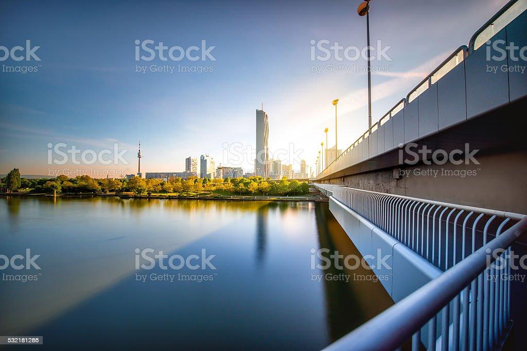 Donaucity in Wien Lizenzfreies stock-foto