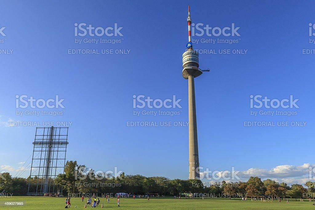 Donauturm, Vienna stock photo