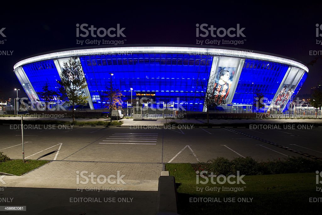 Donbas Arena - soccer stadium by night royalty-free stock photo