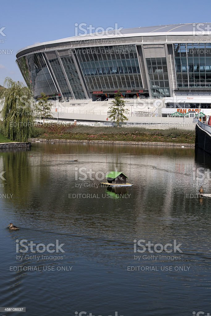 Donbass Arena: ready for EURO 2012 royalty-free stock photo
