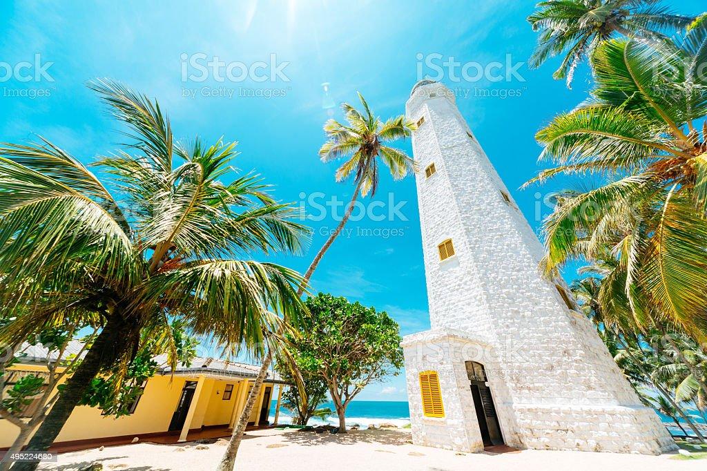 Dondra Lighthouse, Sri Lanka stock photo