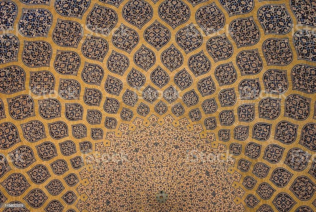 Cupola della moschea ornamenti orientali da isfahan iran