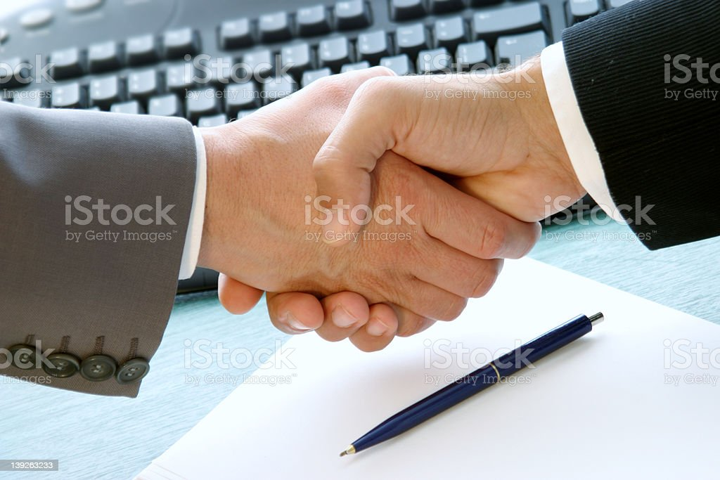 done deal royalty-free stock photo