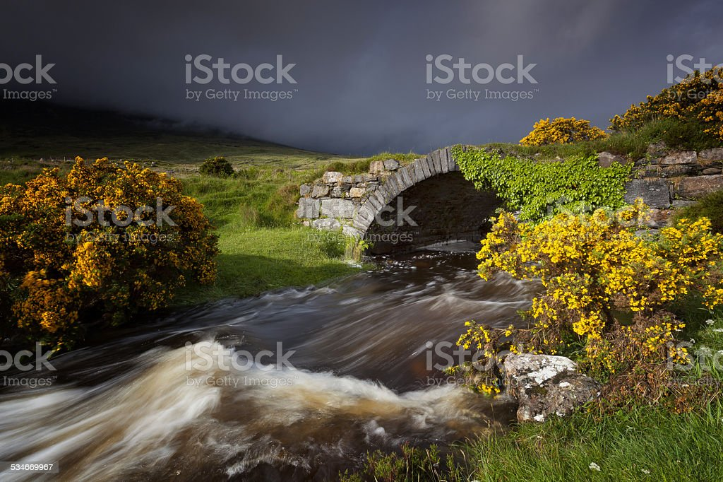 Donegal River stock photo