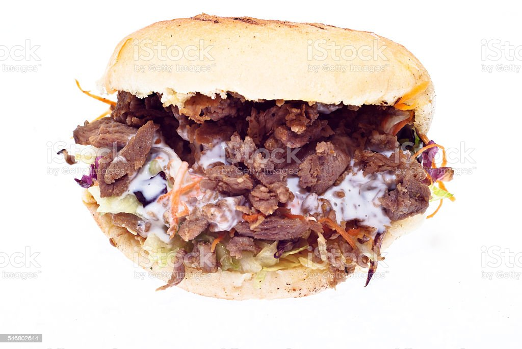 Doner kebab isolated - foto stock