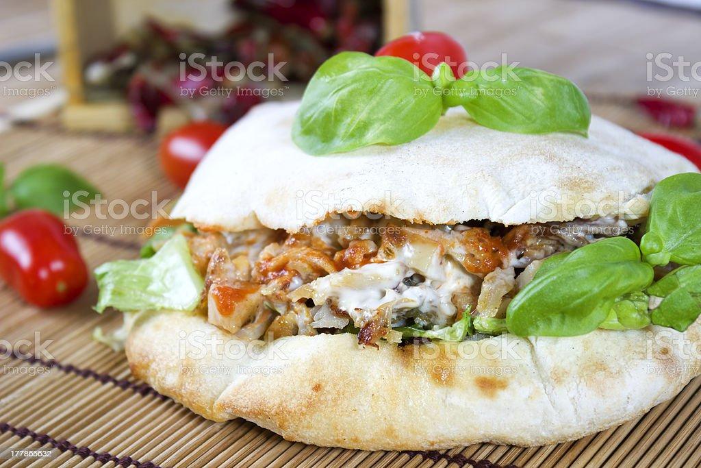 doner kebab stock photo