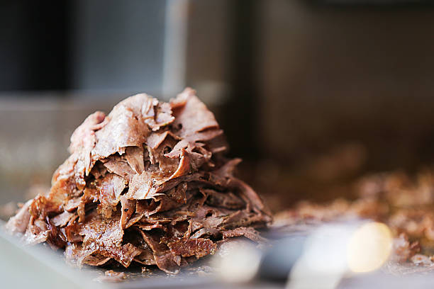 doner kebab Traditional meal of Turkey. spit roasted stock pictures, royalty-free photos & images