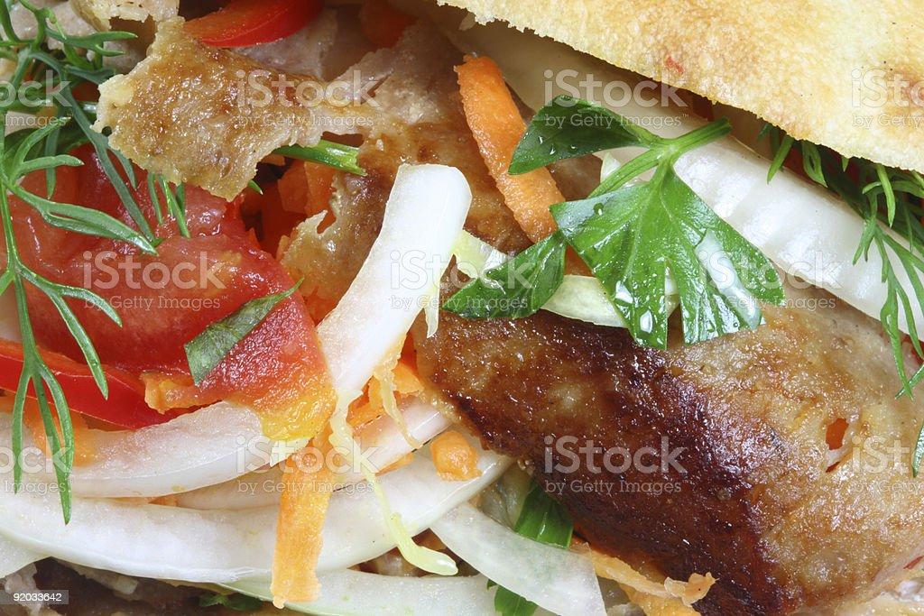 Doner kebab. royalty-free stock photo