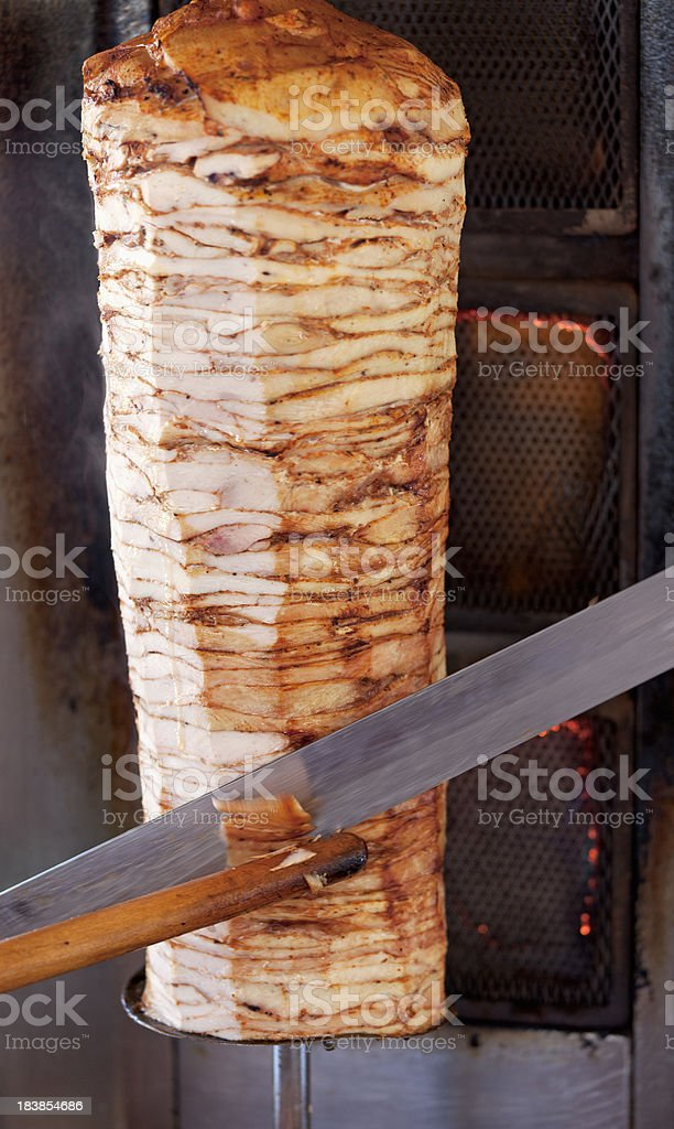 Doner Kebap with chicken royalty-free stock photo