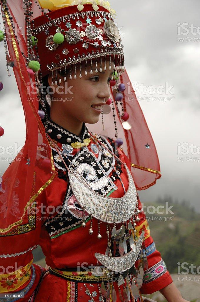 Dong minority girl - Longsheng, China royalty-free stock photo