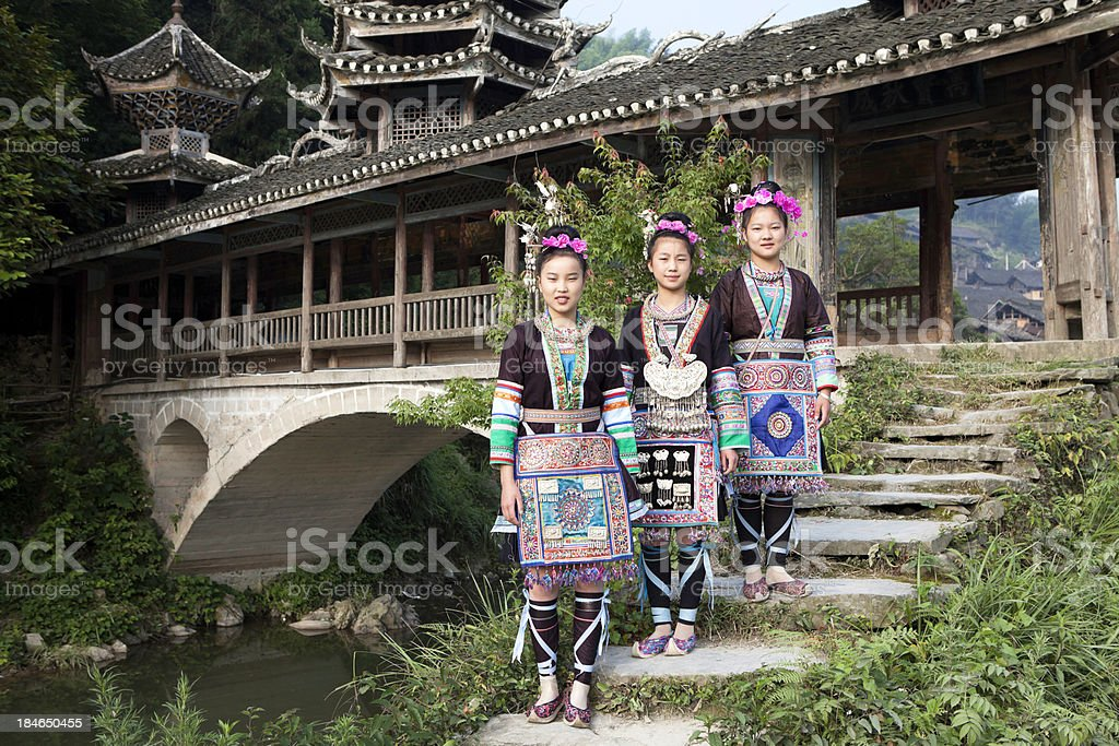Dong Tribe Girls stock photo