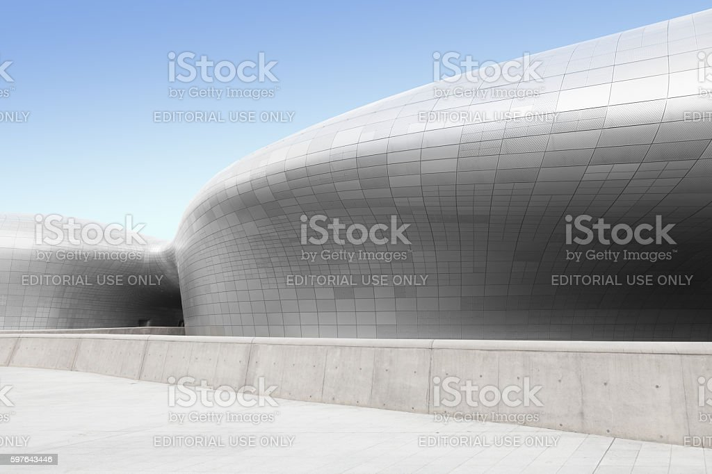 Dongdaemun Design Plaza located in Seoul, South Korea stock photo