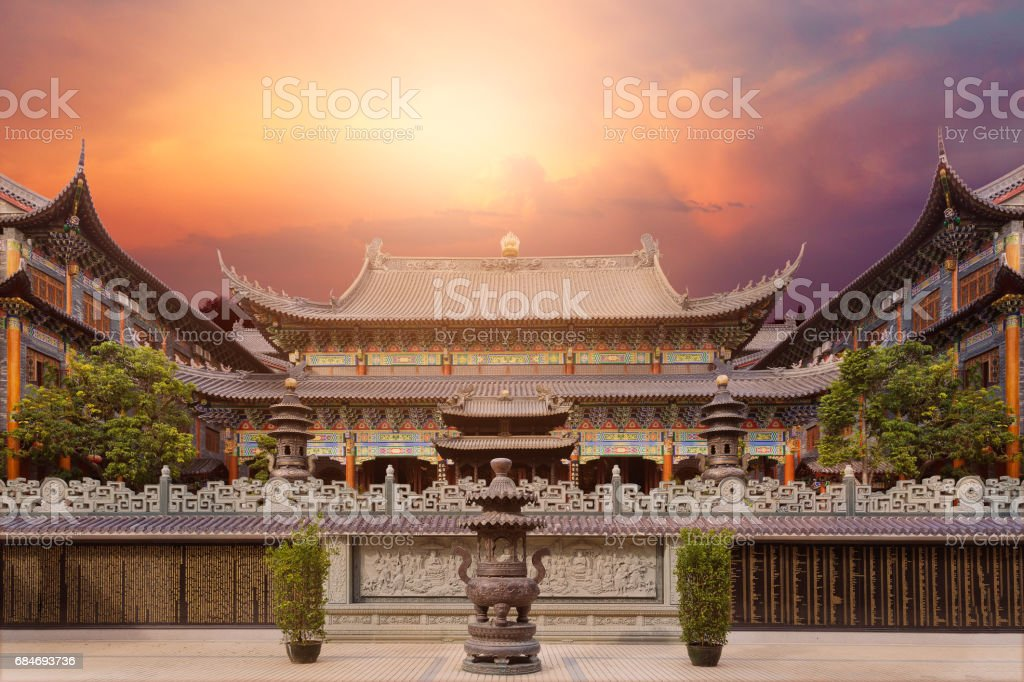 Dongshan temple stock photo