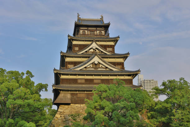 Donjon of Hiroshima, hiroshima castle Donjon of Hiroshima, hiroshima castle 2016 hiroshima prefecture stock pictures, royalty-free photos & images