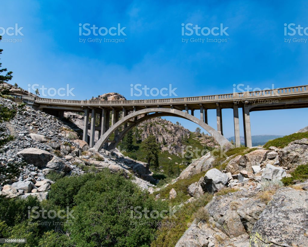 Donner Summit Bridge stock photo
