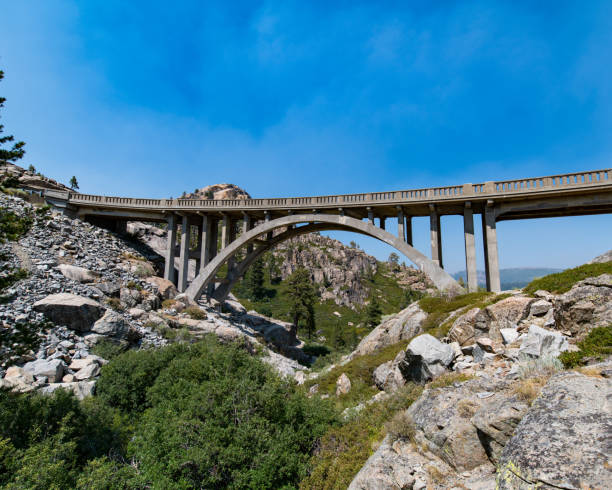 donner summit bridge - birton r. gilbert stock photos and pictures