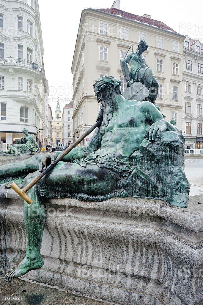 Donnerbrunnen fountain, Vienna, Austria royalty-free stock photo