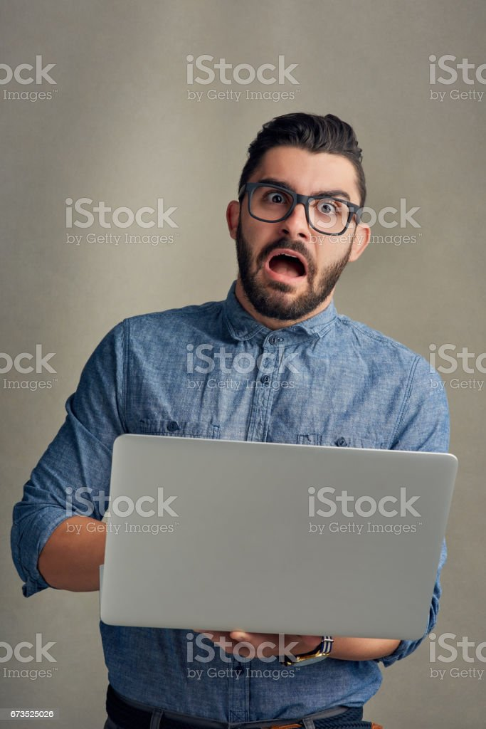 I don't believe it! stock photo