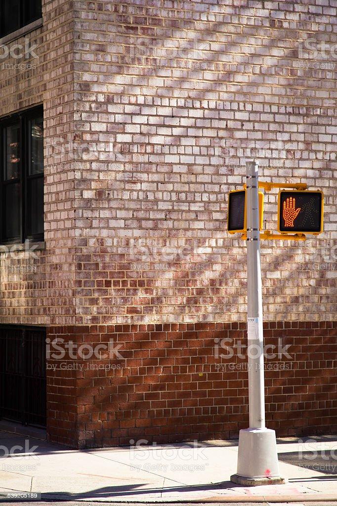 Don't Cross Light Signal stock photo
