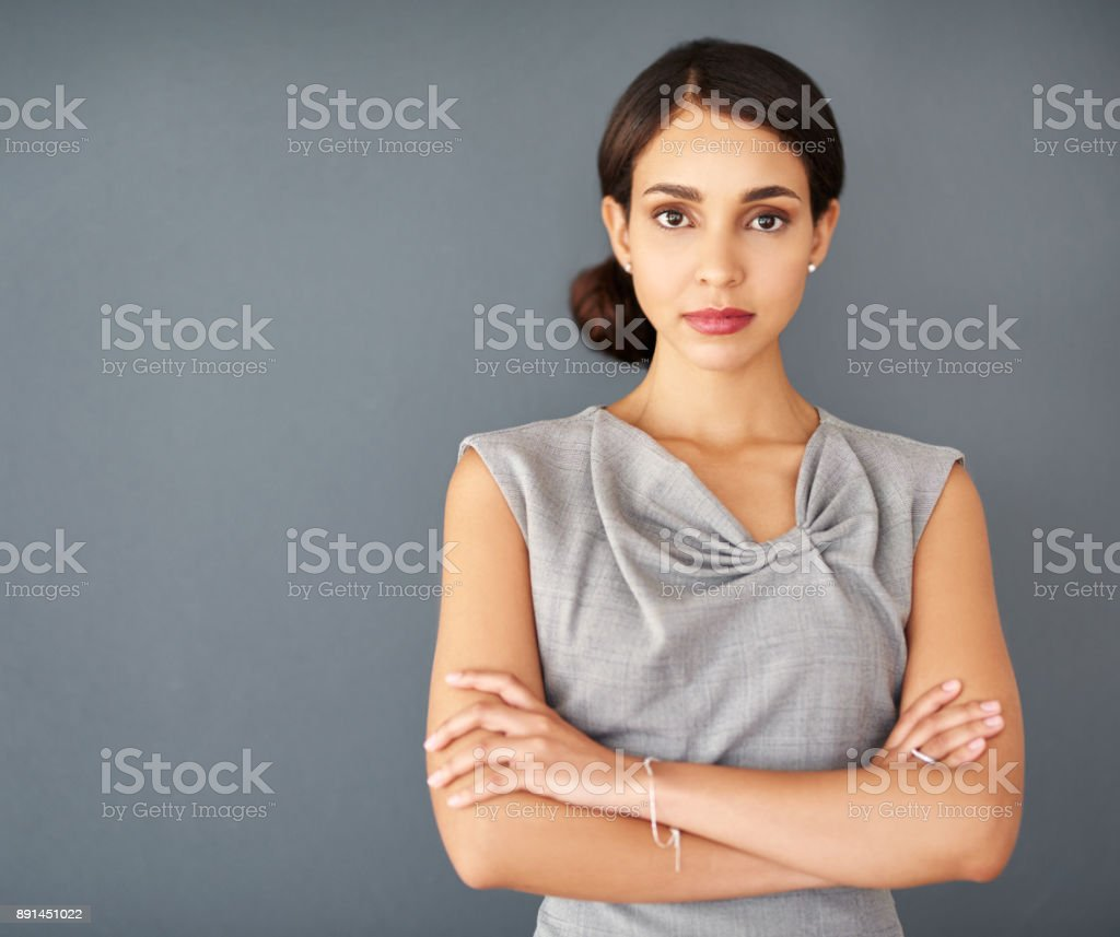 I don't do doubt, only determination stock photo
