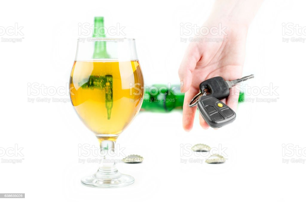 Don't Drink And Drive Concept stock photo