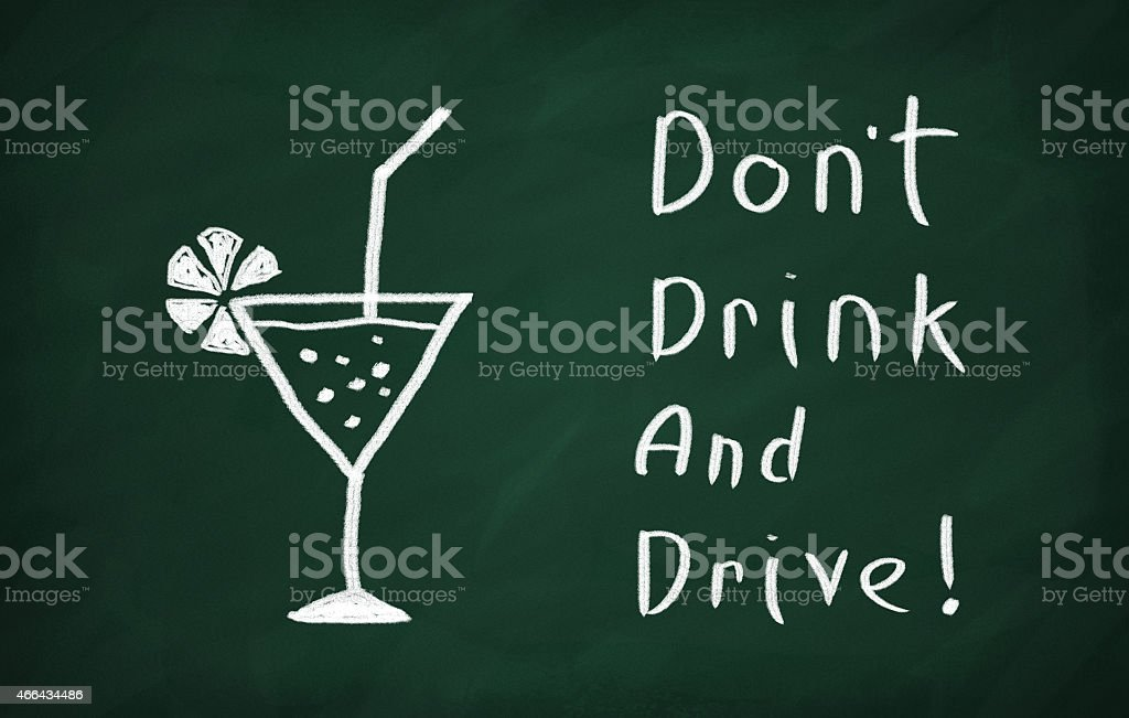 Dont drink and drive! stock photo