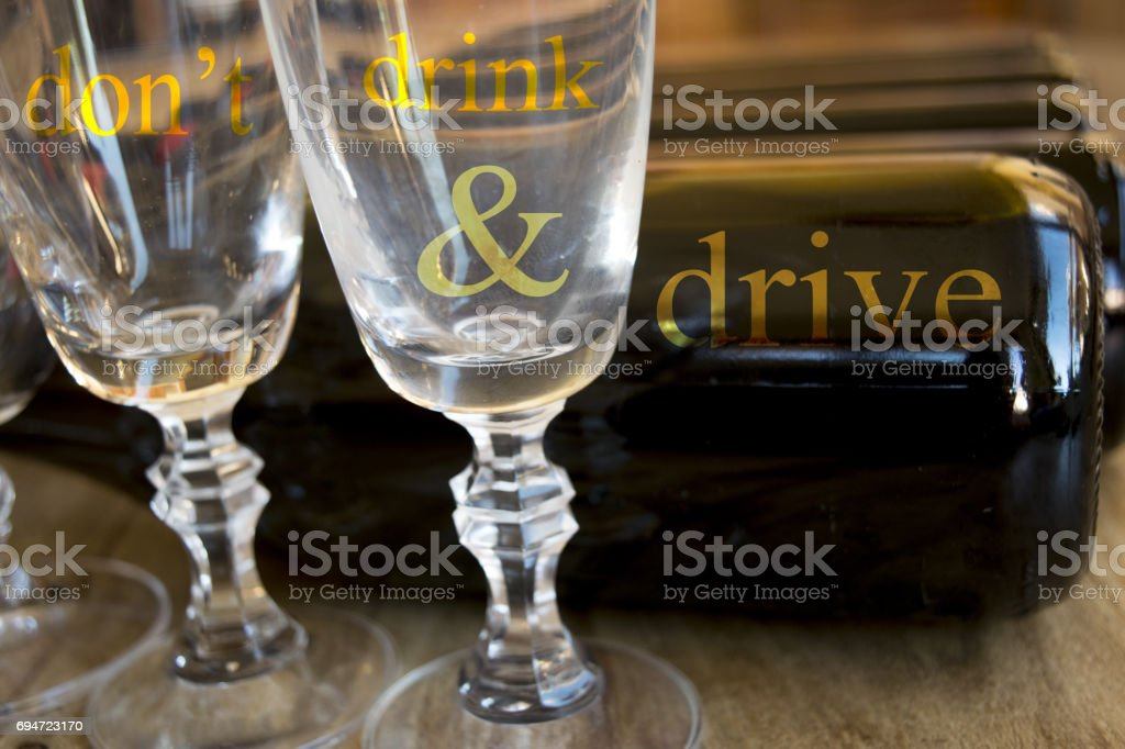 don't drink while drive stock photo