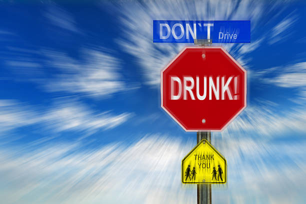 Don't Drive Drunk Thank You stock photo