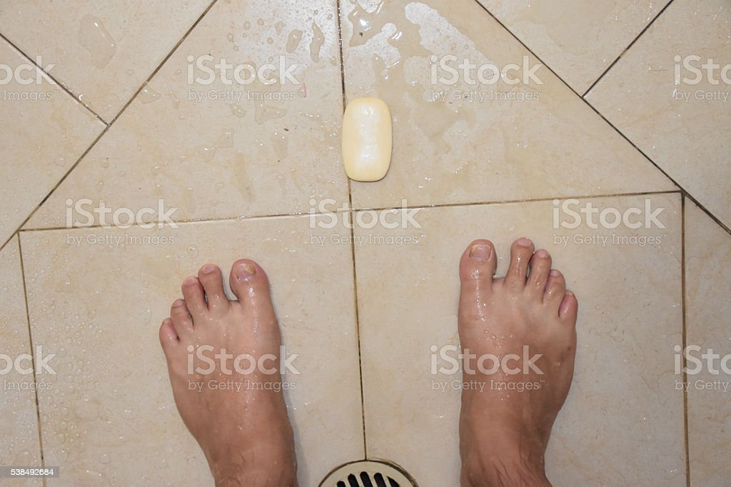Don't drop the soap stock photo