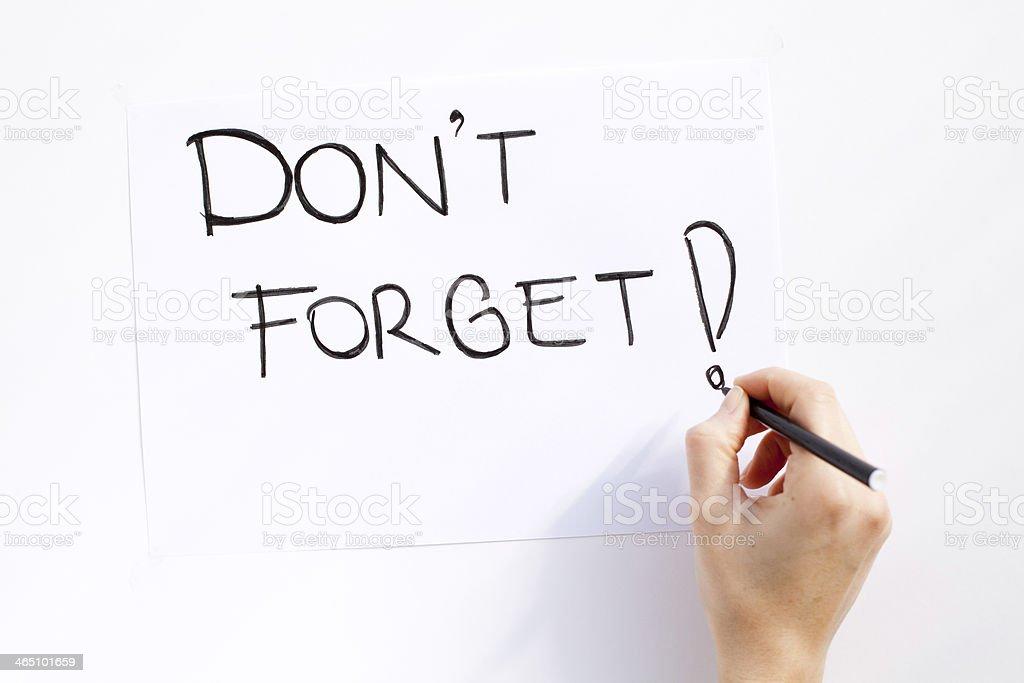 No olvide! - Foto de stock de Artículo de papelería libre de derechos