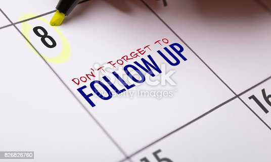 istock Dont Forget to Follow Up 826826760