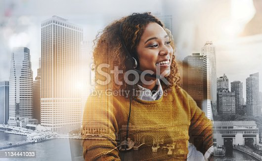 Shot of a female agent working in a call centre