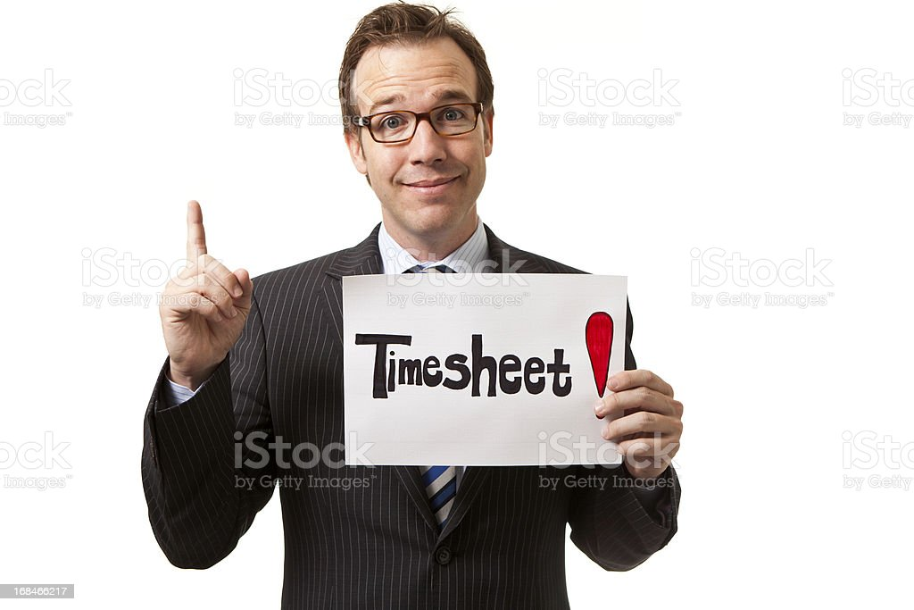 Dont forget your timesheet stock photo