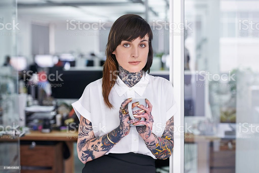 Don't judge this book by her cover stock photo