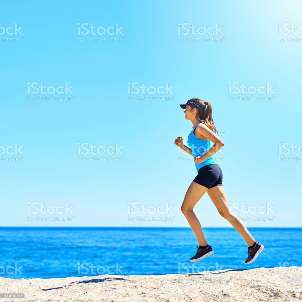 Don't just chase your dreams…run them down! stock photo