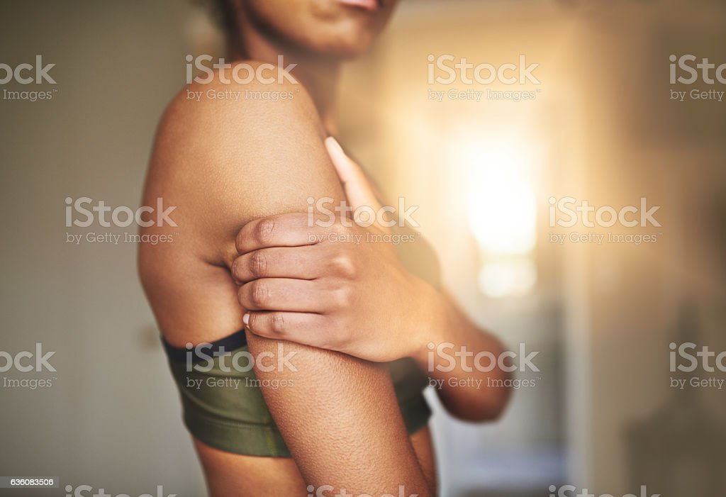Don't let injuries get you down! stock photo