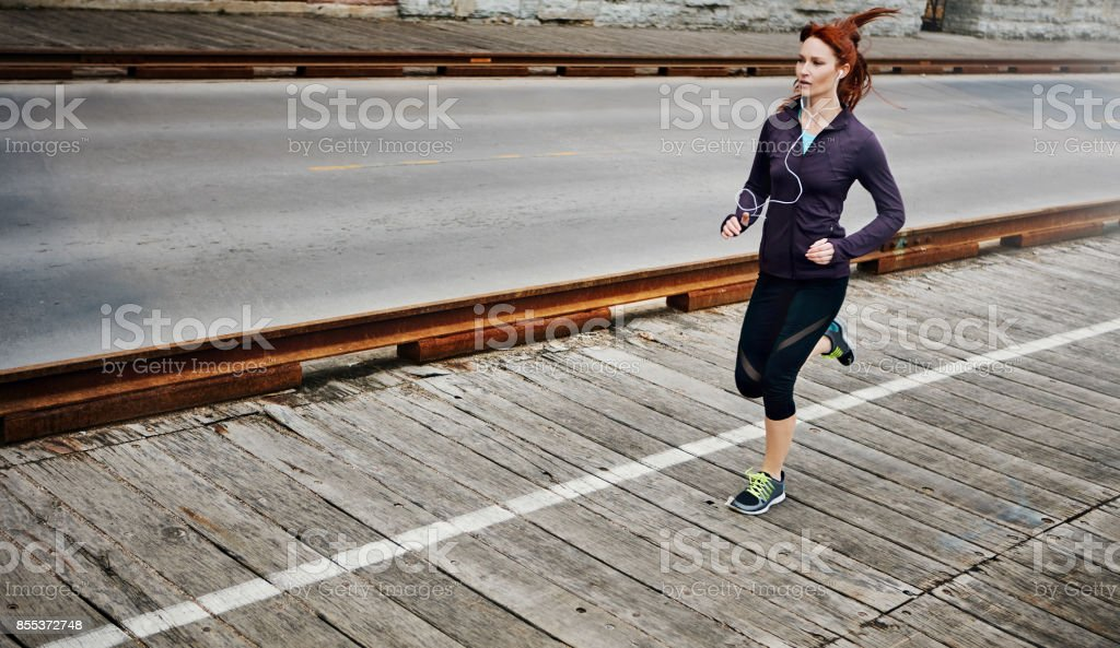 Don't let weakness outrun you stock photo