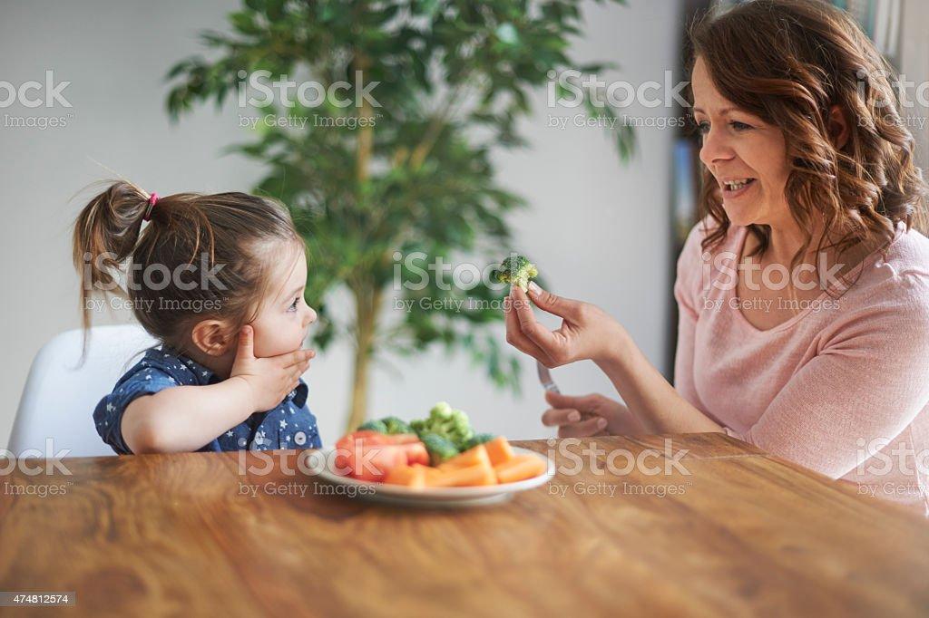 I don't like a broccoli! stock photo