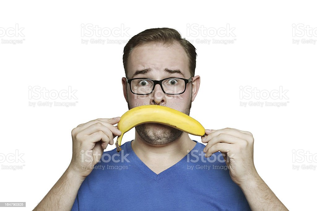 don´t like banana stock photo