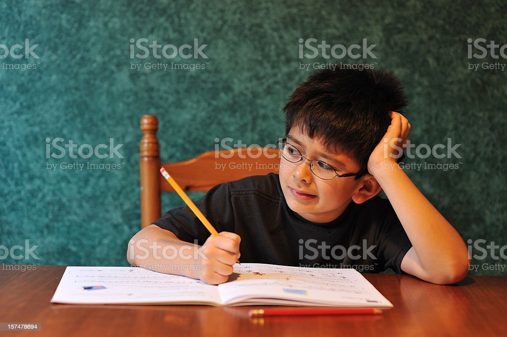 I don't like homework! royalty-free stock photo