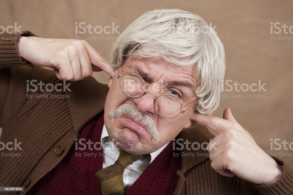 Don't Like Modern Music! stock photo